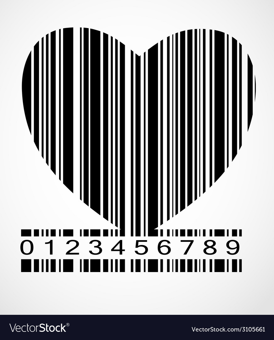 Barcode heart image vector | Price: 1 Credit (USD $1)