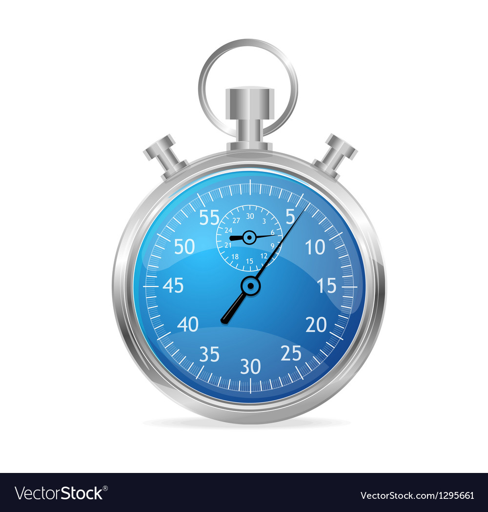 Blue stopwatch vector | Price: 1 Credit (USD $1)