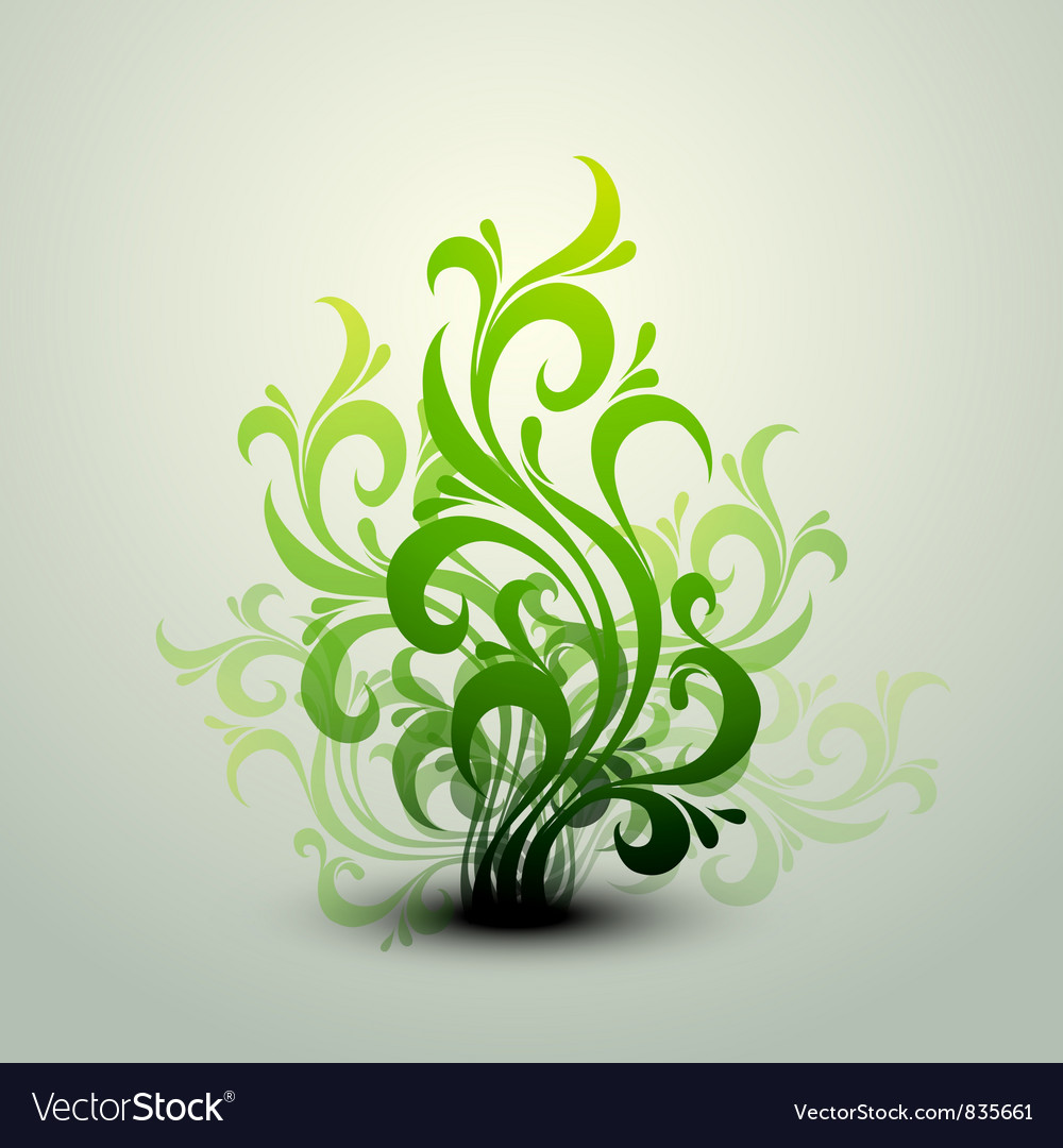 Clean floral background vector | Price: 1 Credit (USD $1)