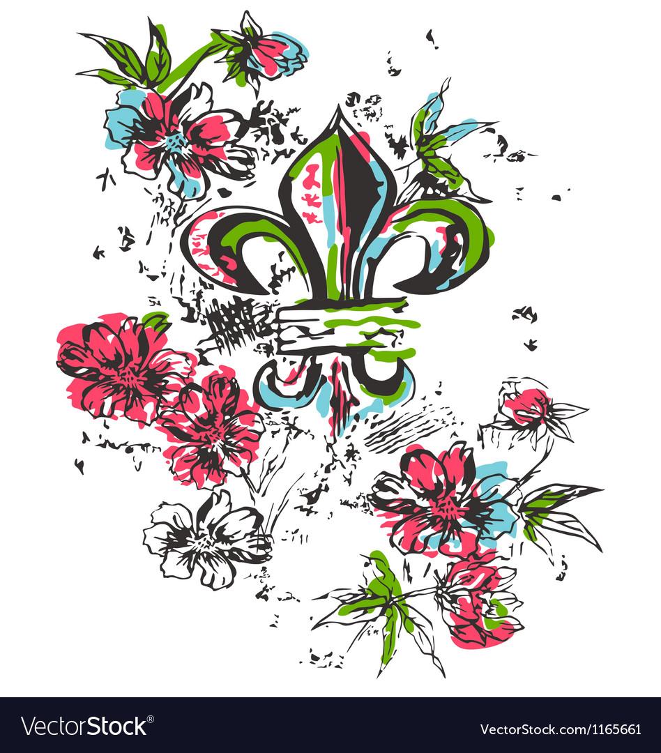 Fleur de lis symbol vector | Price: 1 Credit (USD $1)