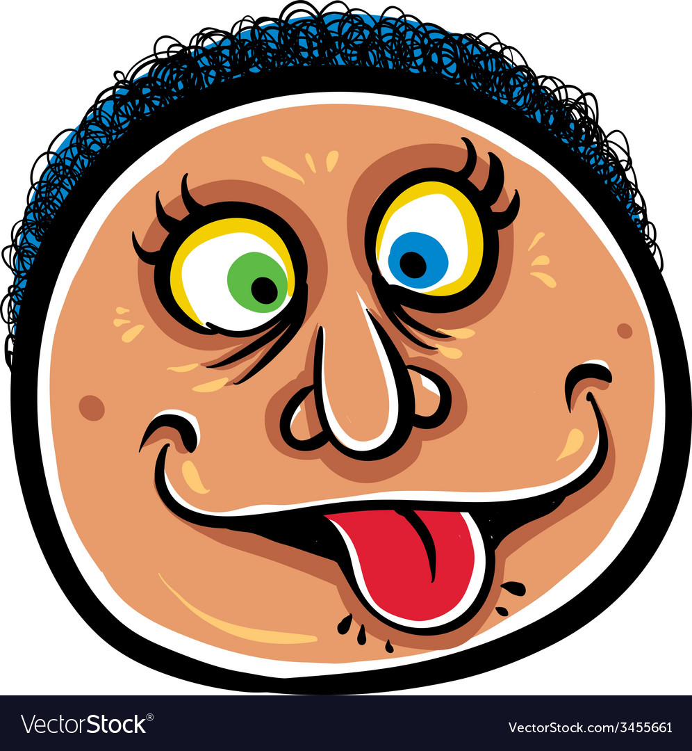 Foolish cartoon face vector   Price: 1 Credit (USD $1)