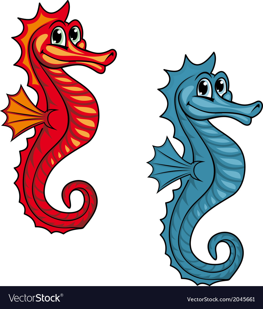 Funny seahorse vector | Price: 1 Credit (USD $1)