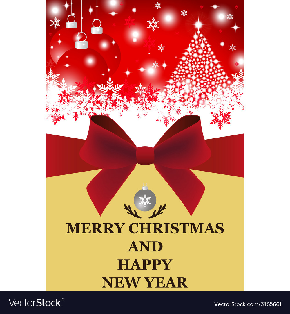 Greeting card for christmas and new year vector | Price: 1 Credit (USD $1)