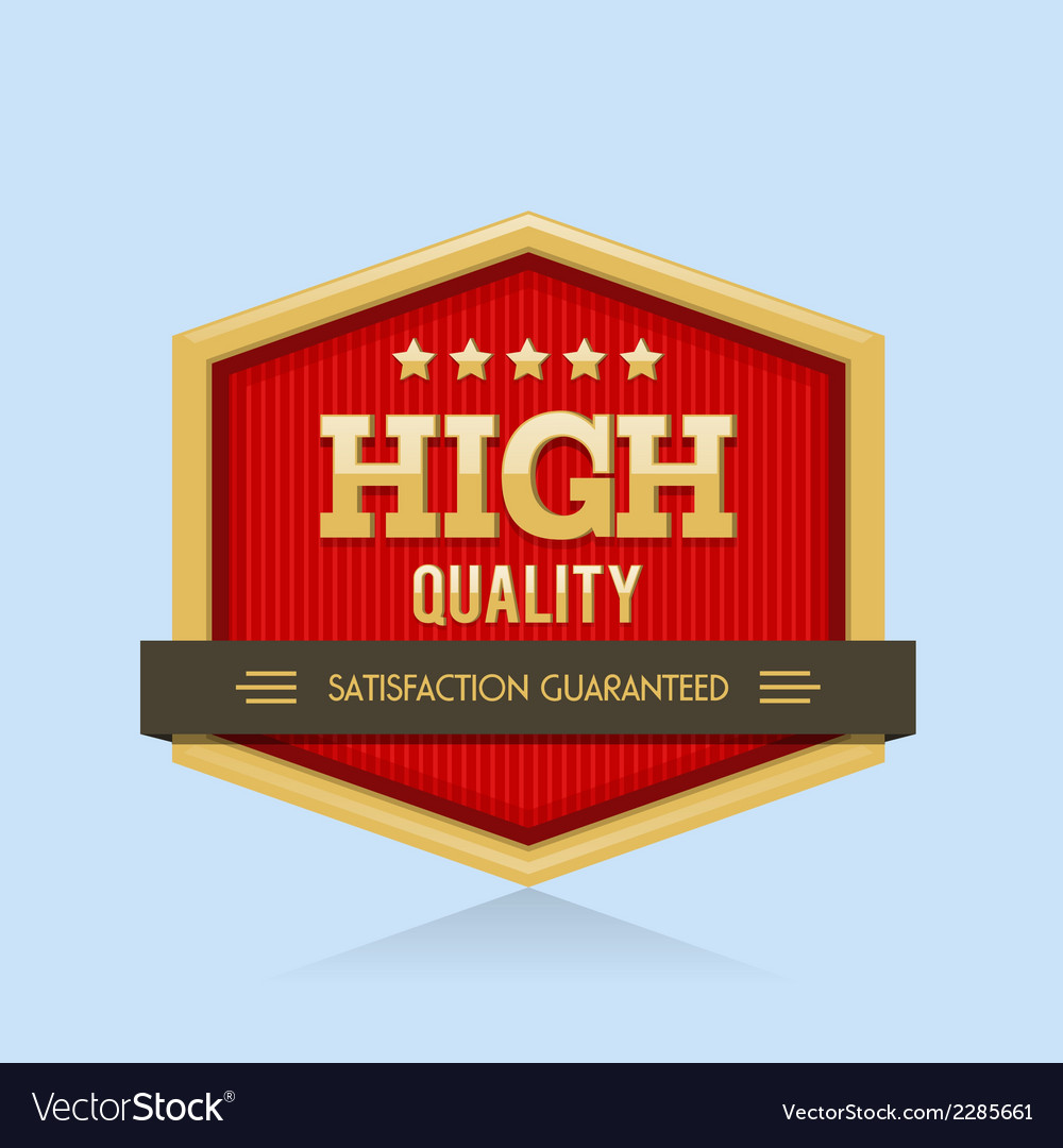 High quality badge vector | Price: 1 Credit (USD $1)