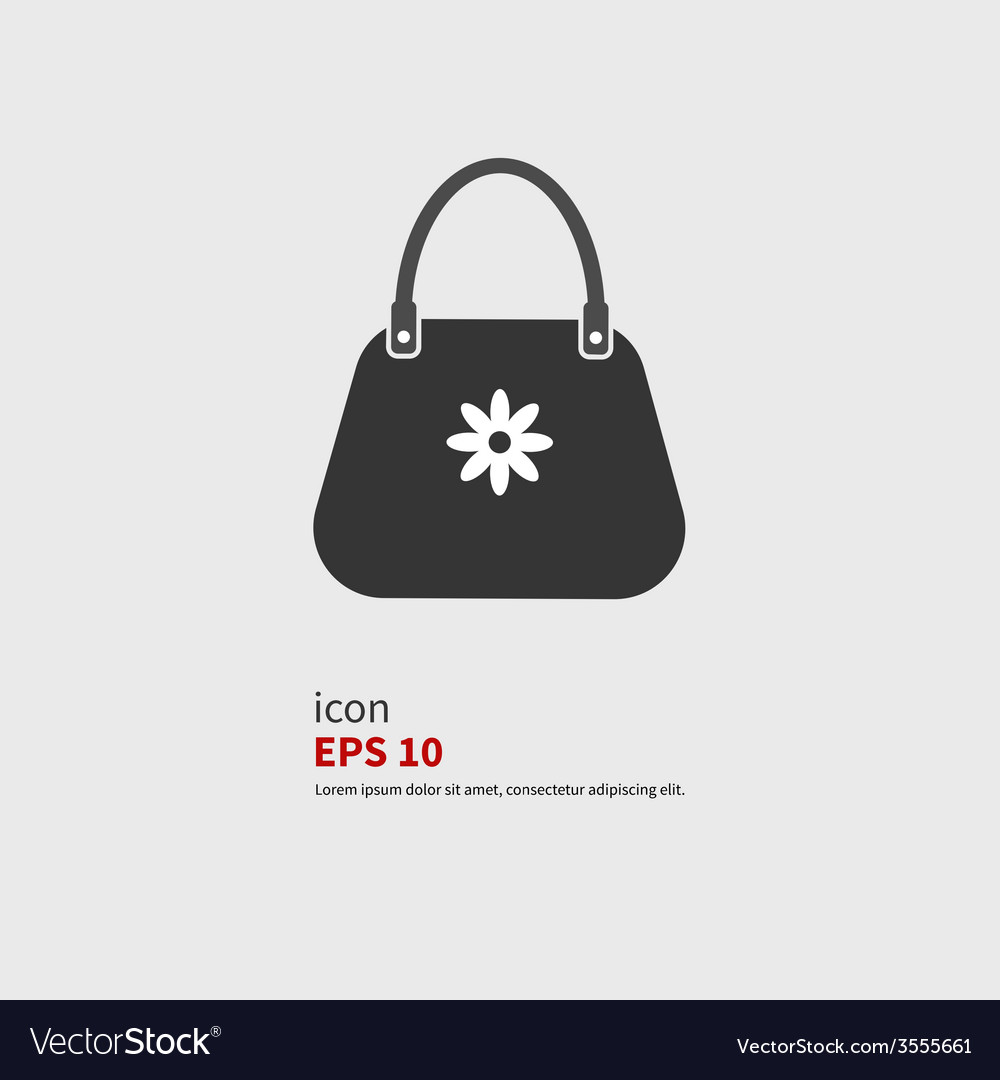 Icon bags vector
