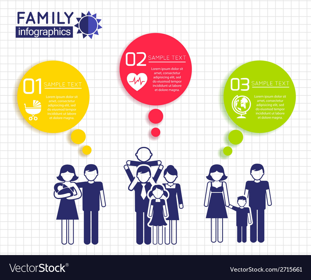 Infographics design with family vector | Price: 1 Credit (USD $1)