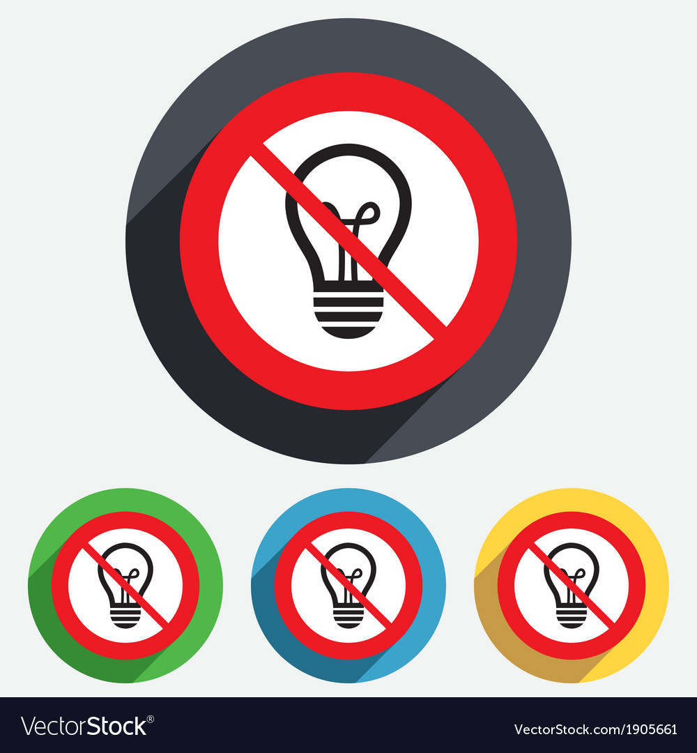 No light lamp sign icon idea symbol vector | Price: 1 Credit (USD $1)