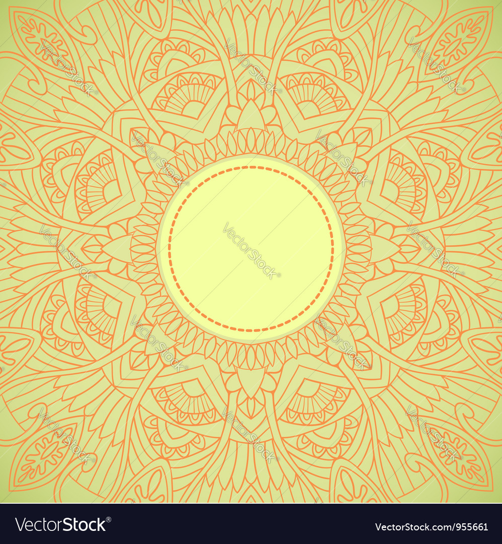 Ornamental ethnic lace pattern vector | Price: 1 Credit (USD $1)