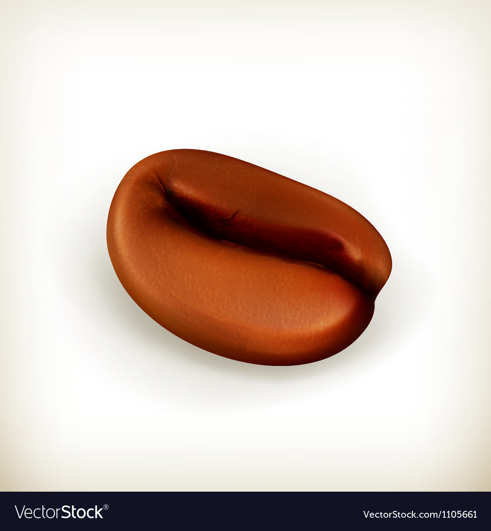 Roasted coffee bean vector | Price: 1 Credit (USD $1)