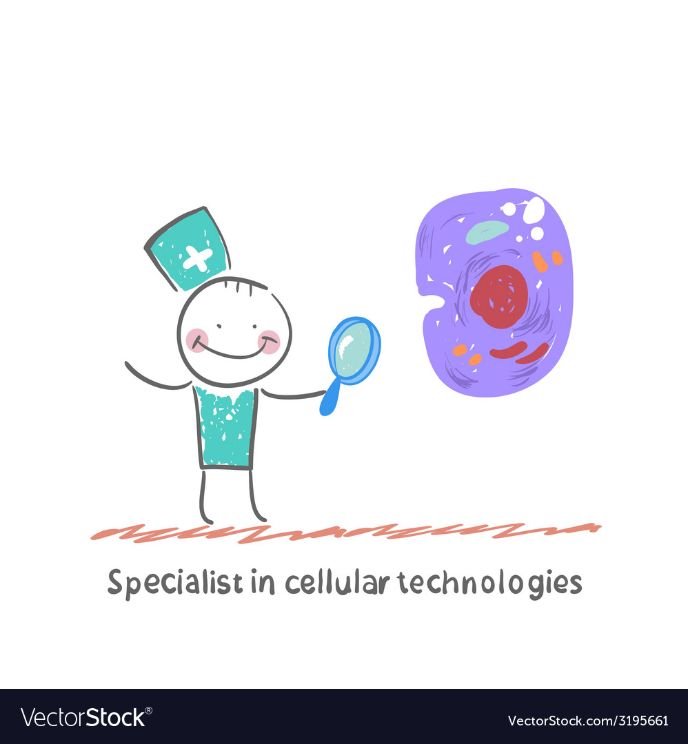 Specialist in cellular technologies is looking vector | Price: 1 Credit (USD $1)