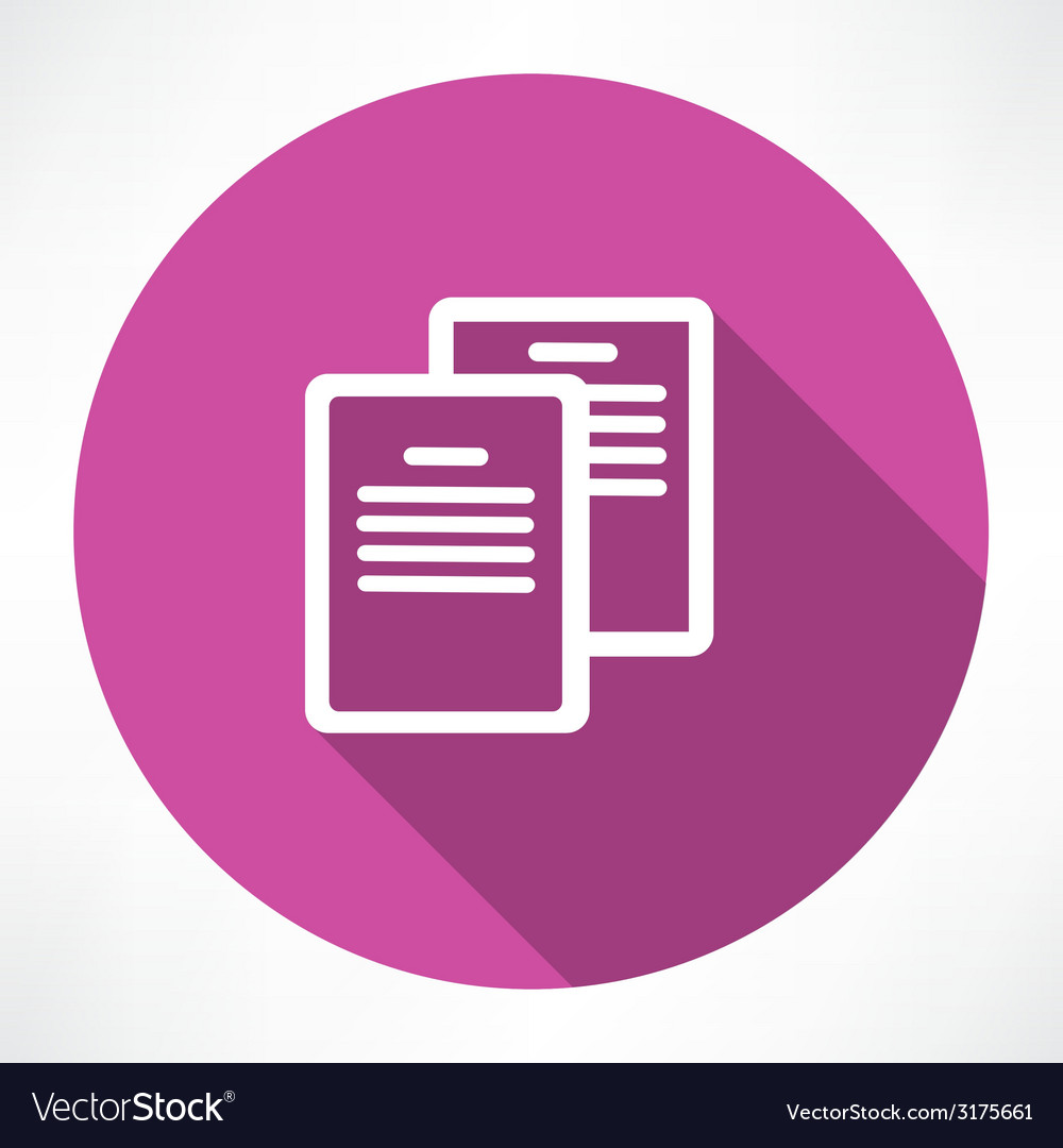 Two documents icon vector | Price: 1 Credit (USD $1)