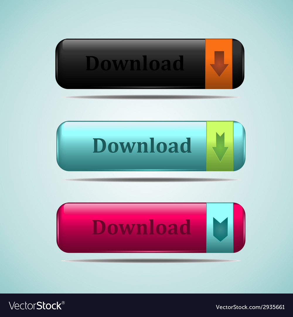 Web button download vector | Price: 1 Credit (USD $1)