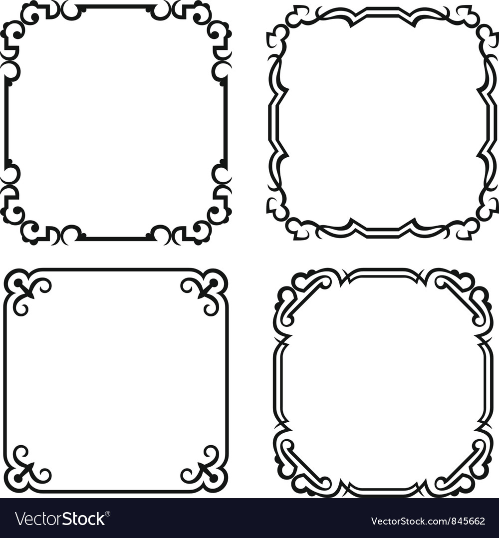 Blank frames vector | Price: 1 Credit (USD $1)