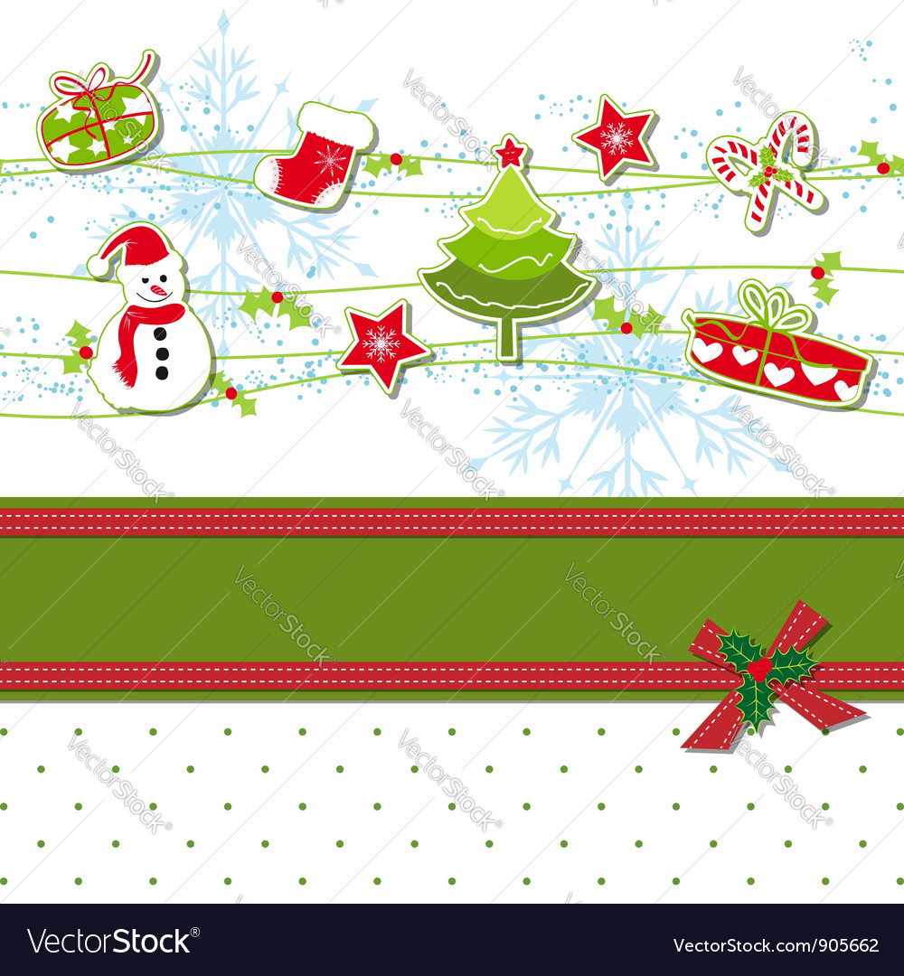 Christmas ornament greeting card vector | Price: 1 Credit (USD $1)