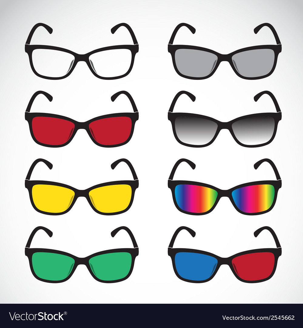 Group of an glasses vector | Price: 1 Credit (USD $1)