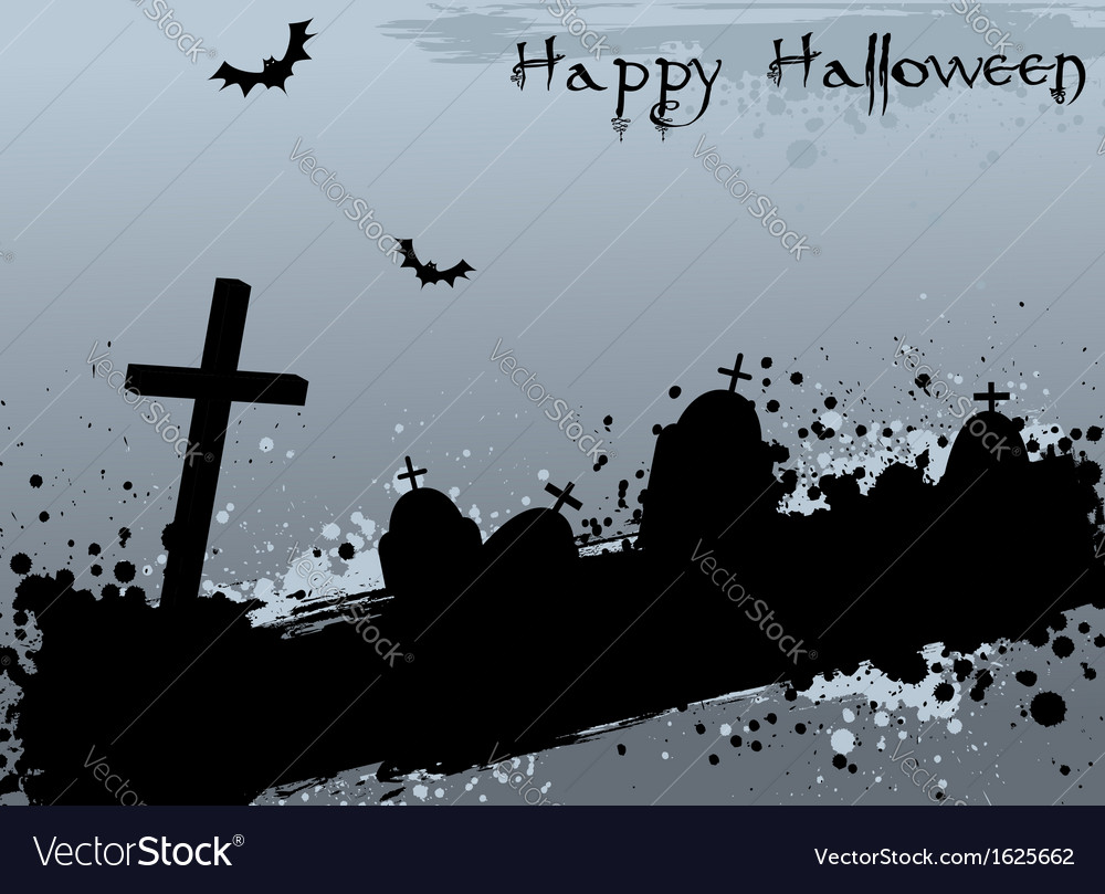 Halloween background with graves vector | Price: 1 Credit (USD $1)