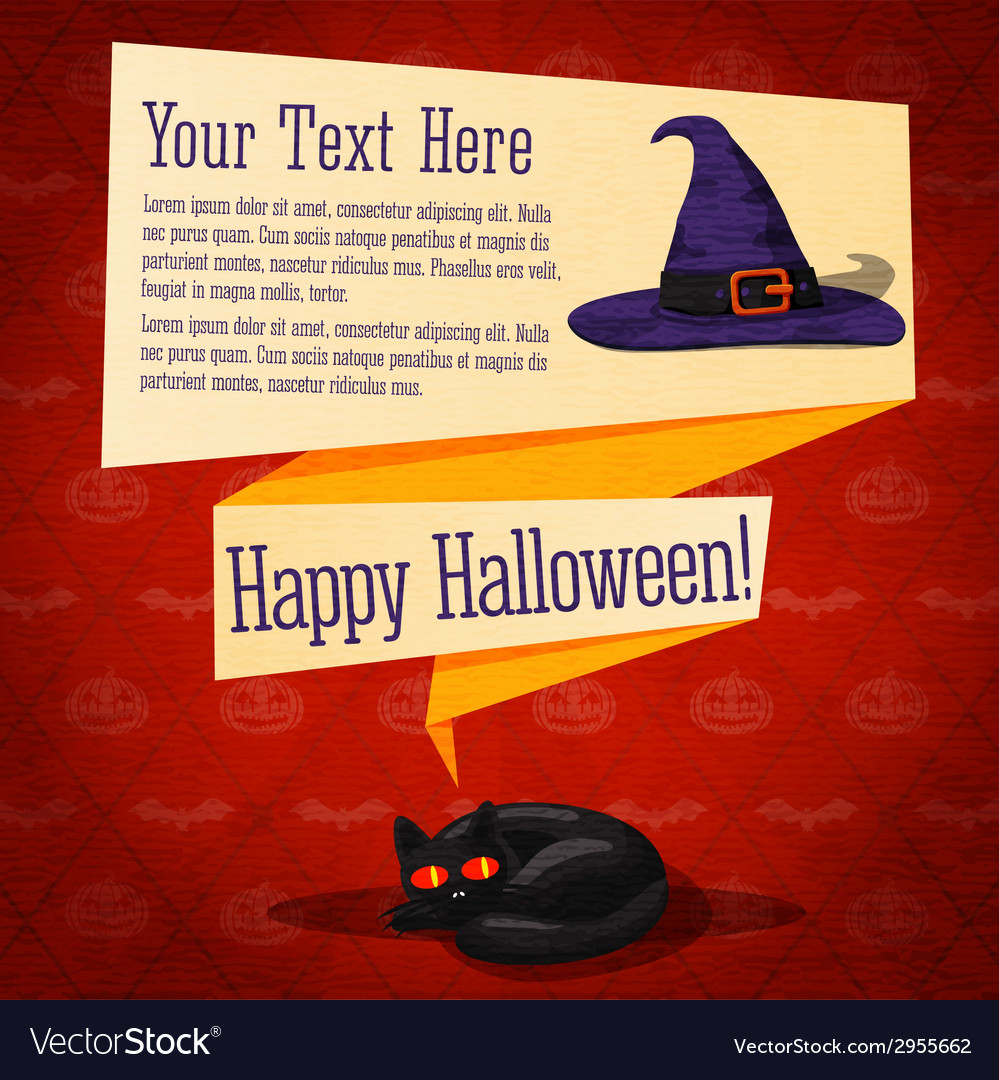 Happy halloween cute retro banner - craft paper vector | Price: 1 Credit (USD $1)
