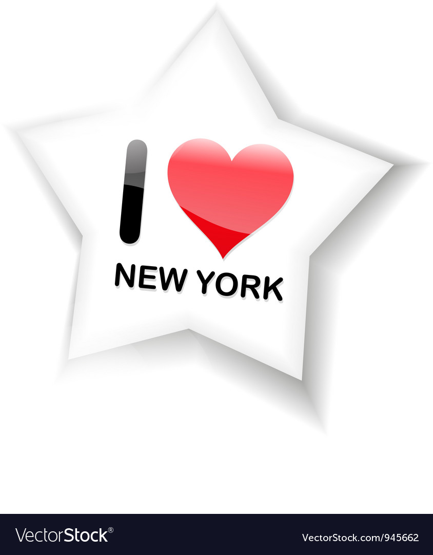 I love new york sign vector | Price: 1 Credit (USD $1)
