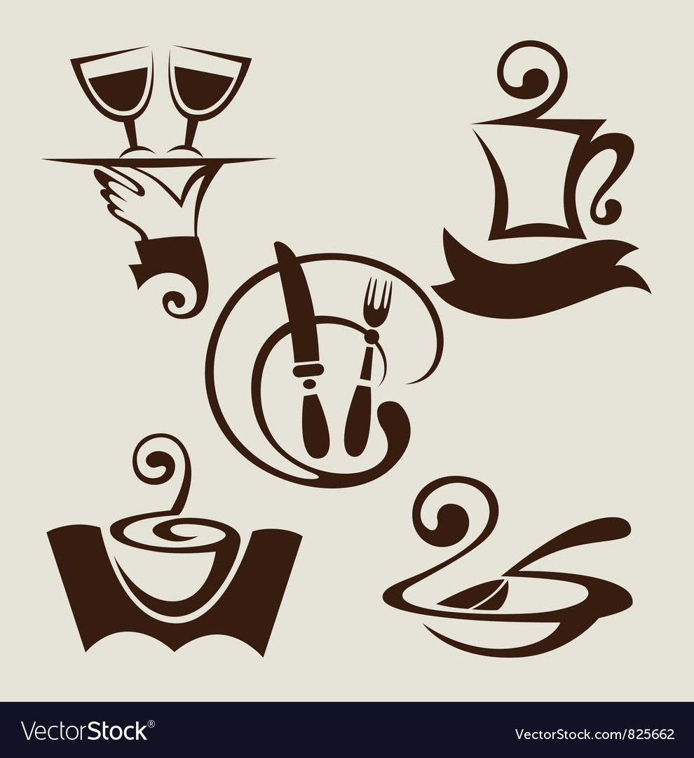 Restaurant menu symbols vector | Price: 1 Credit (USD $1)