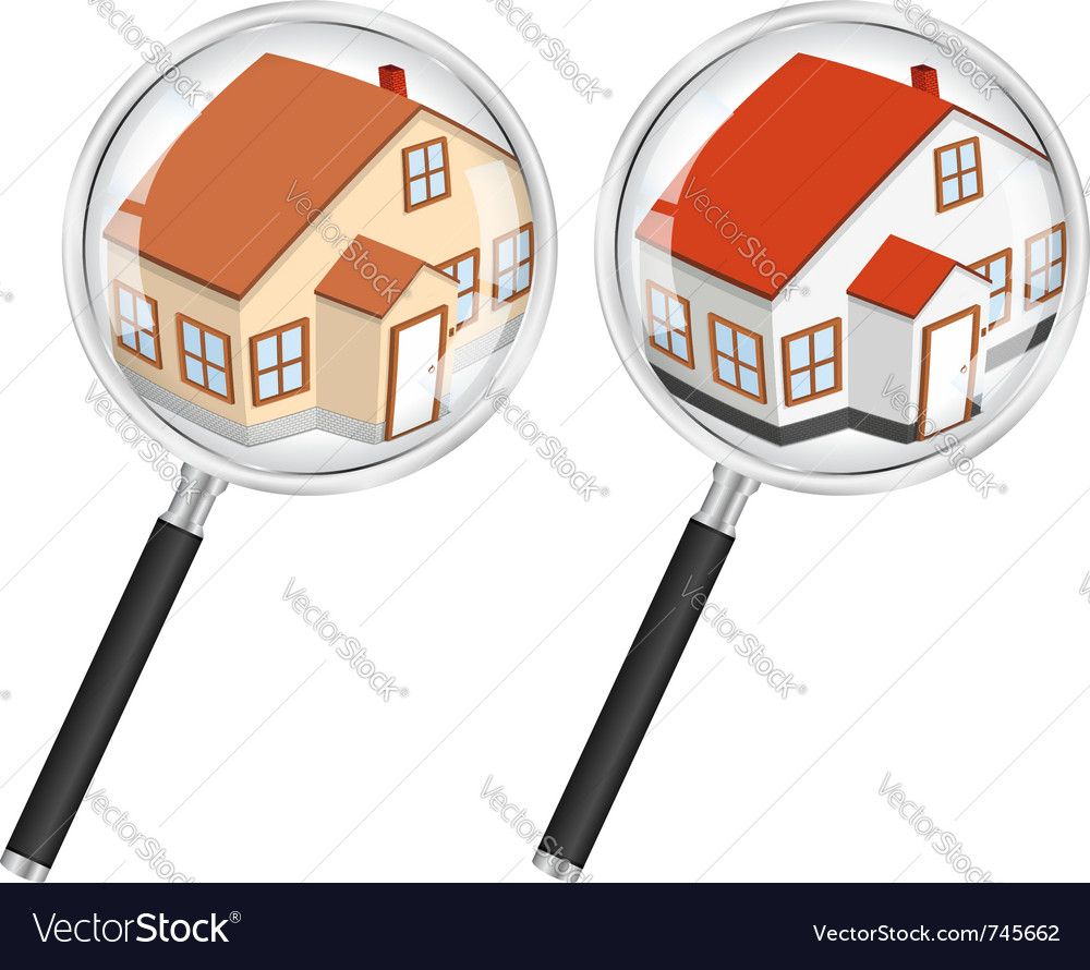 Search for house concept vector | Price: 3 Credit (USD $3)