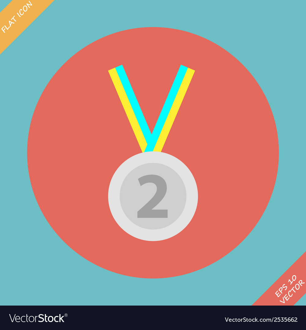 Second place trophy medal - vector | Price: 1 Credit (USD $1)
