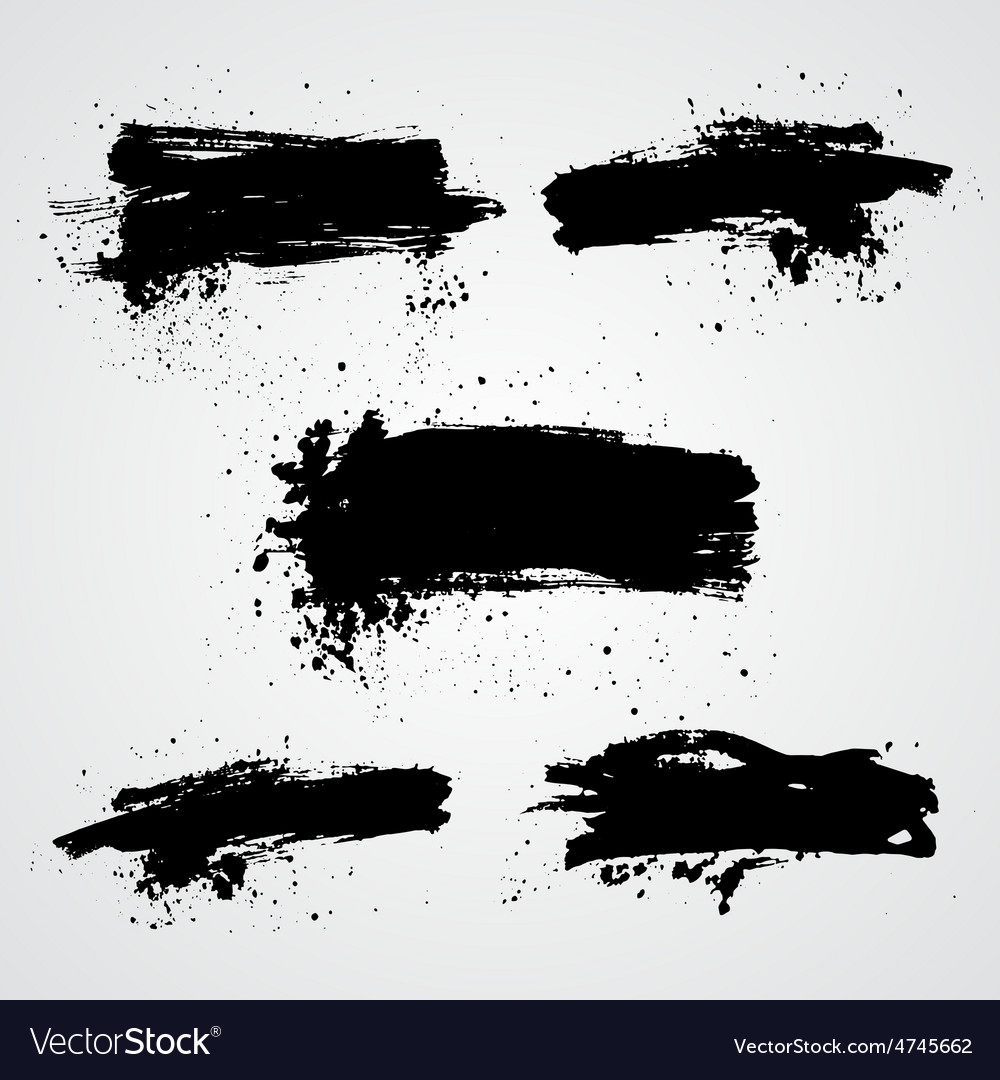 Set of black grunge splash banners can be vector | Price: 1 Credit (USD $1)