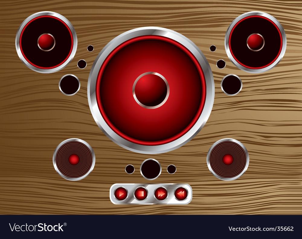 Wood speaker vector | Price: 1 Credit (USD $1)