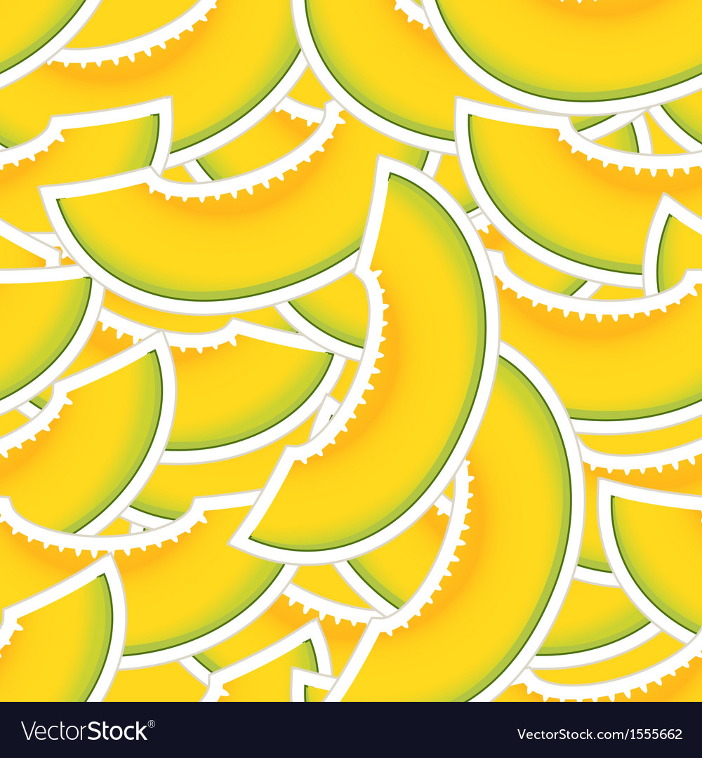 Yellow melon seamless background vector | Price: 1 Credit (USD $1)