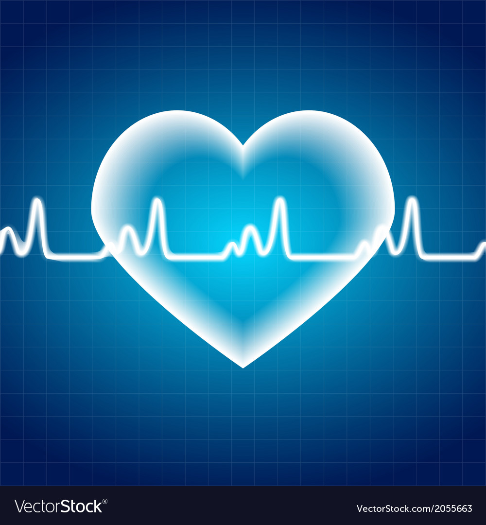 Abstract heart pulse medical background vector | Price: 1 Credit (USD $1)
