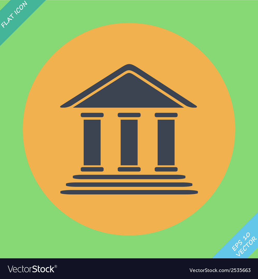 Bank building -  flat design vector | Price: 1 Credit (USD $1)
