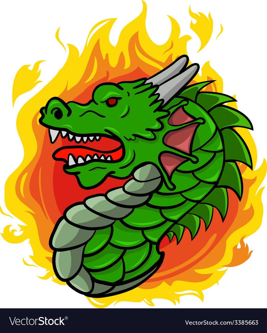 Dragon head vector | Price: 1 Credit (USD $1)