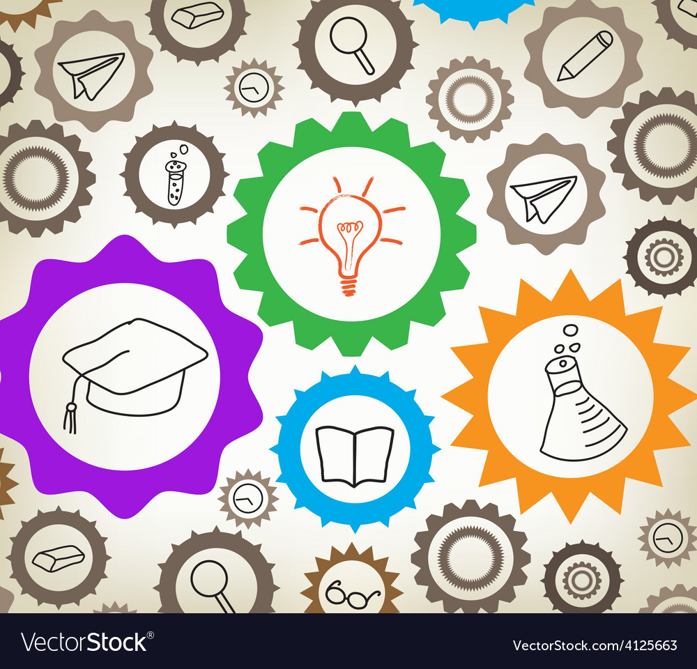Education mechanism concept background vector | Price: 1 Credit (USD $1)