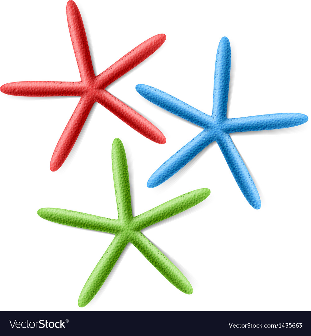 Finger starfish vector | Price: 1 Credit (USD $1)