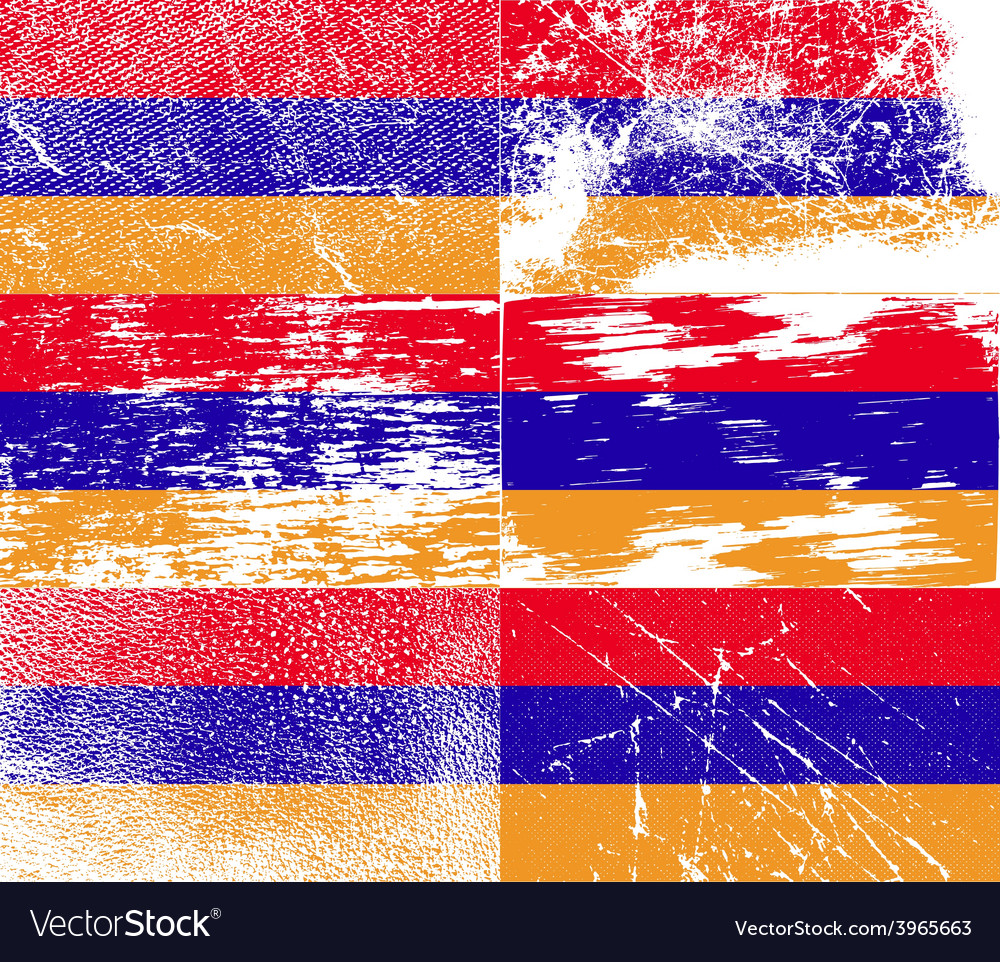 Flag of armenia with old texture vector | Price: 1 Credit (USD $1)