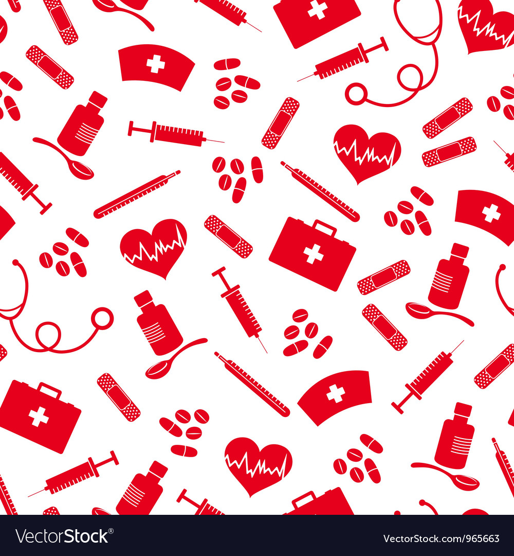 Healthcare pattern vector | Price: 1 Credit (USD $1)