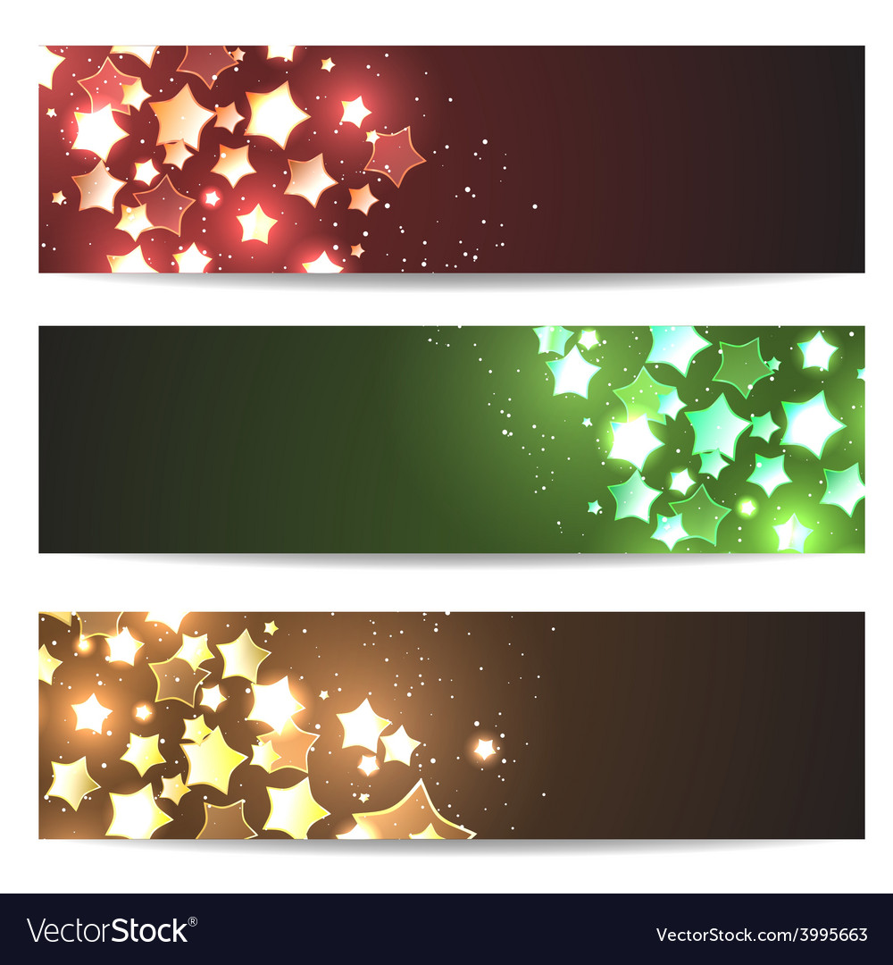 Magic header footer flyer collection vector | Price: 1 Credit (USD $1)