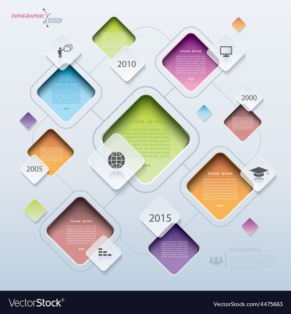 Modern abstract design infographic statistic vector | Price: 1 Credit (USD $1)