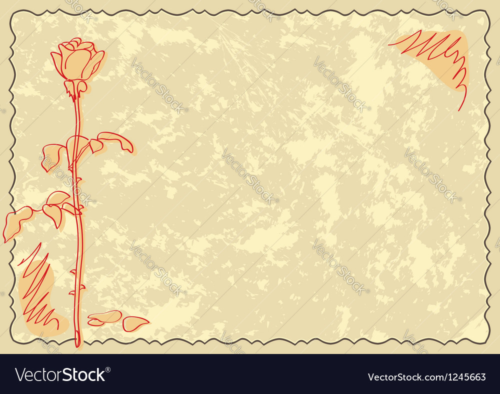Old card with rose vector | Price: 1 Credit (USD $1)