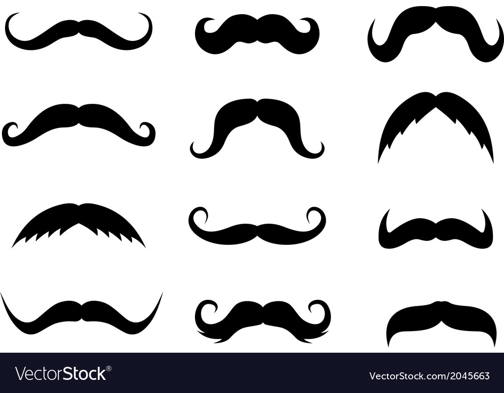 Set of mustaches vector | Price: 1 Credit (USD $1)