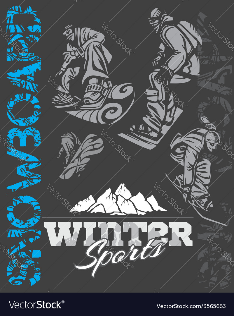 Snowboard - winter sport stock vector | Price: 1 Credit (USD $1)