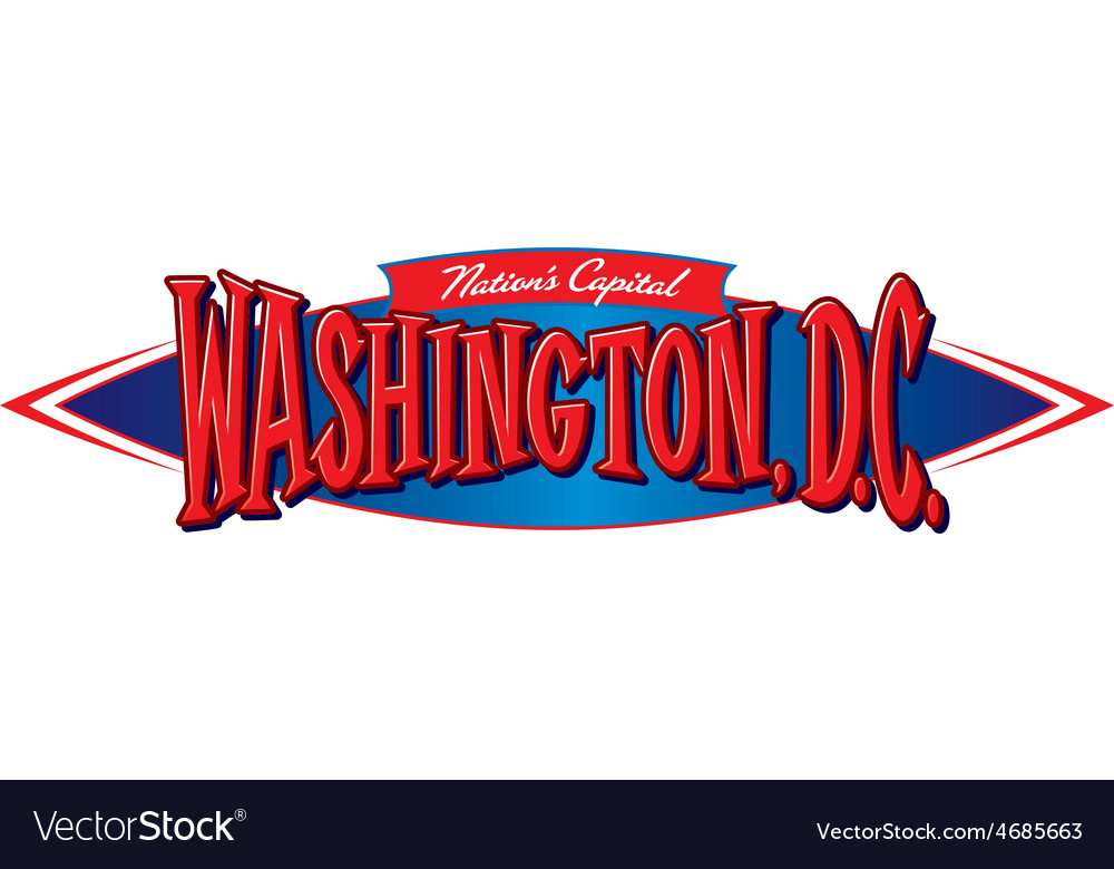 Washington dc nations capital vector | Price: 3 Credit (USD $3)