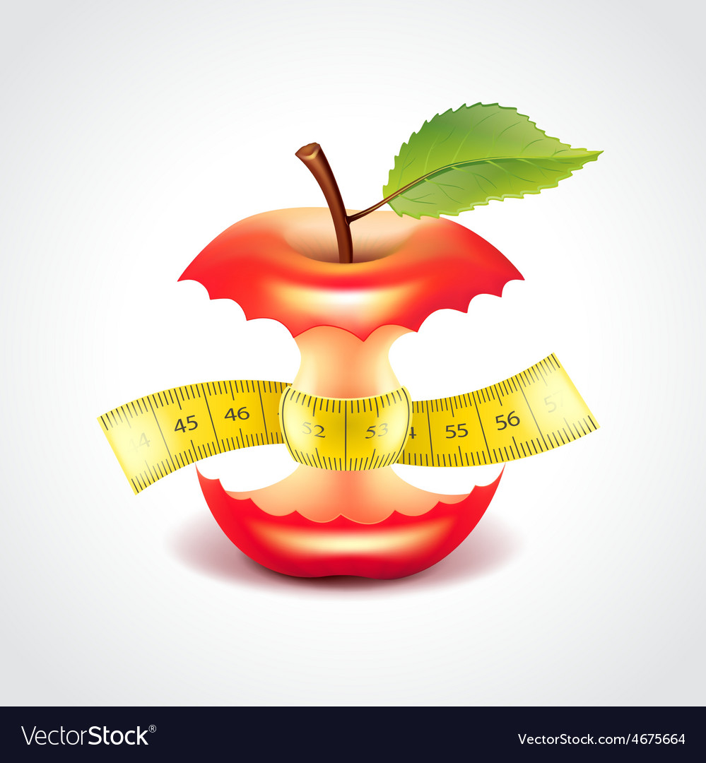 Apple stub with measuring tape vector | Price: 3 Credit (USD $3)
