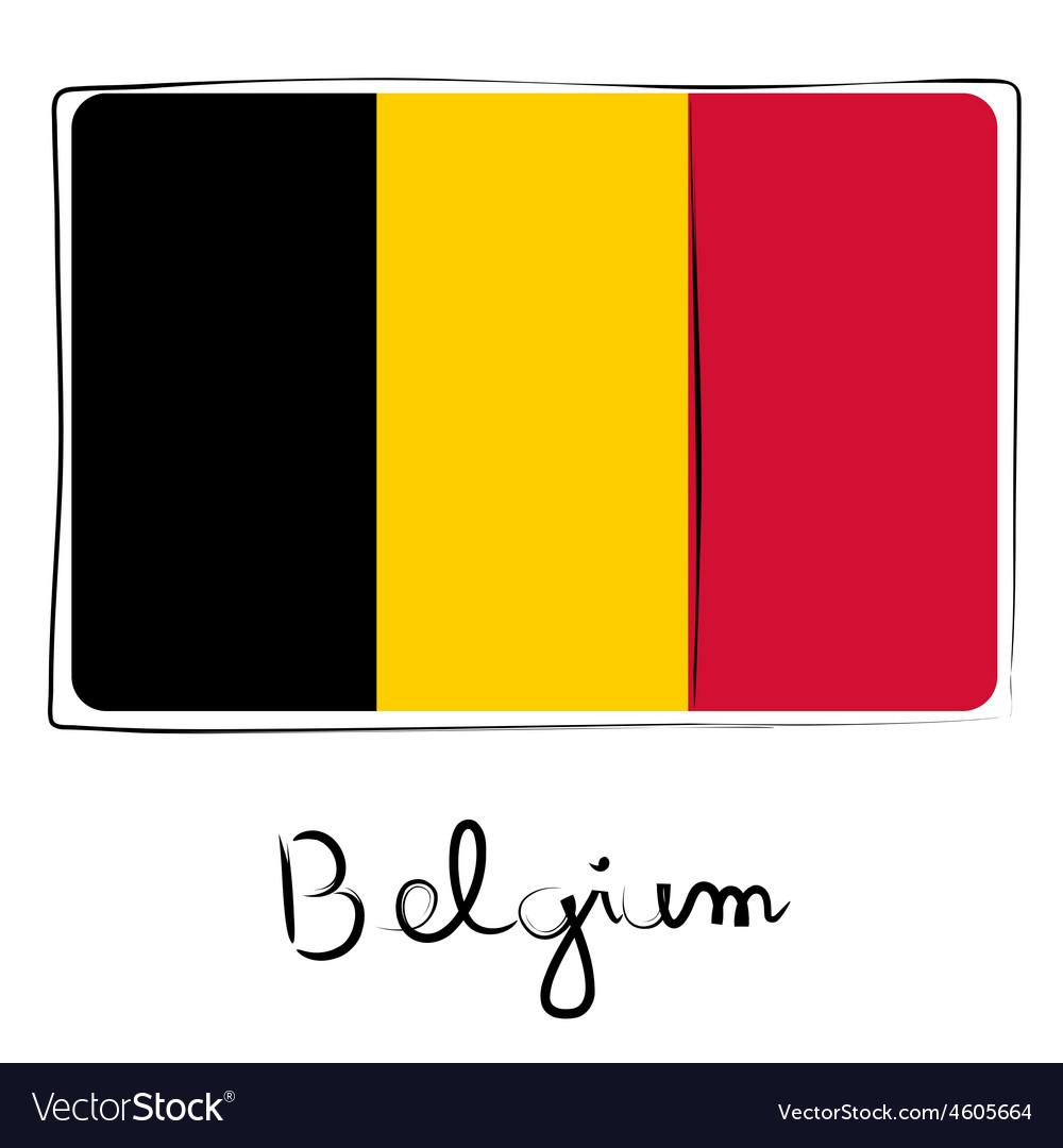Belgium flag doodle vector   Price: 1 Credit (USD $1)