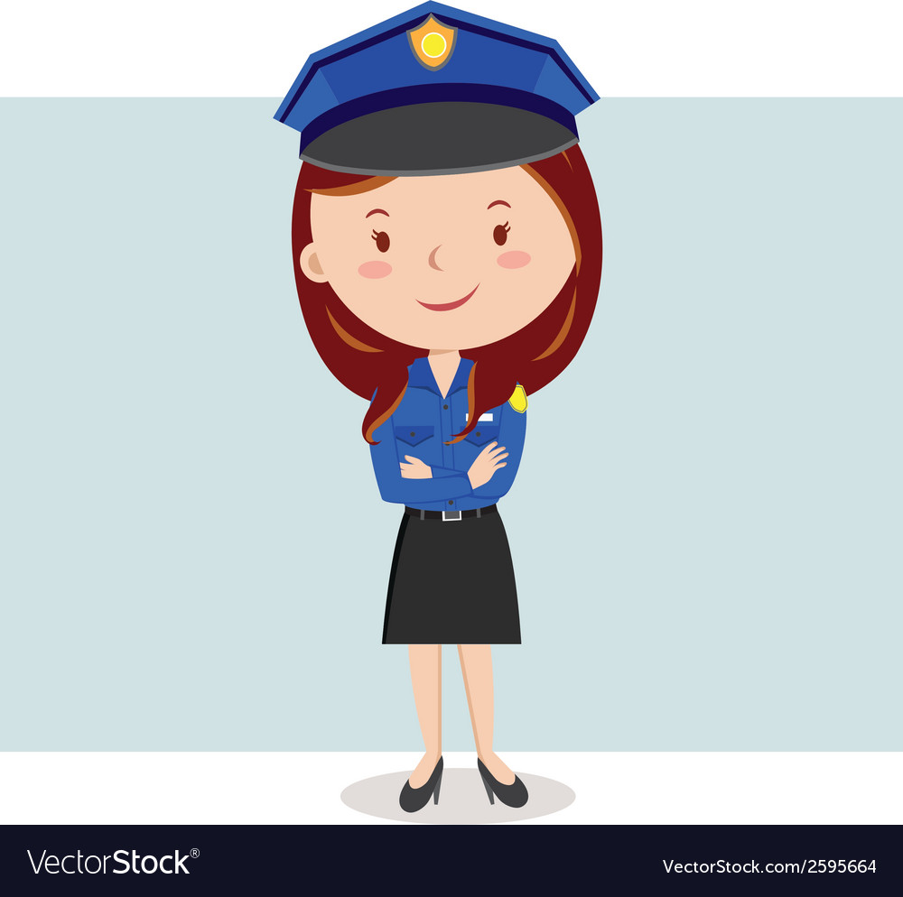 Cartoon police officer or policewoman vector | Price: 1 Credit (USD $1)