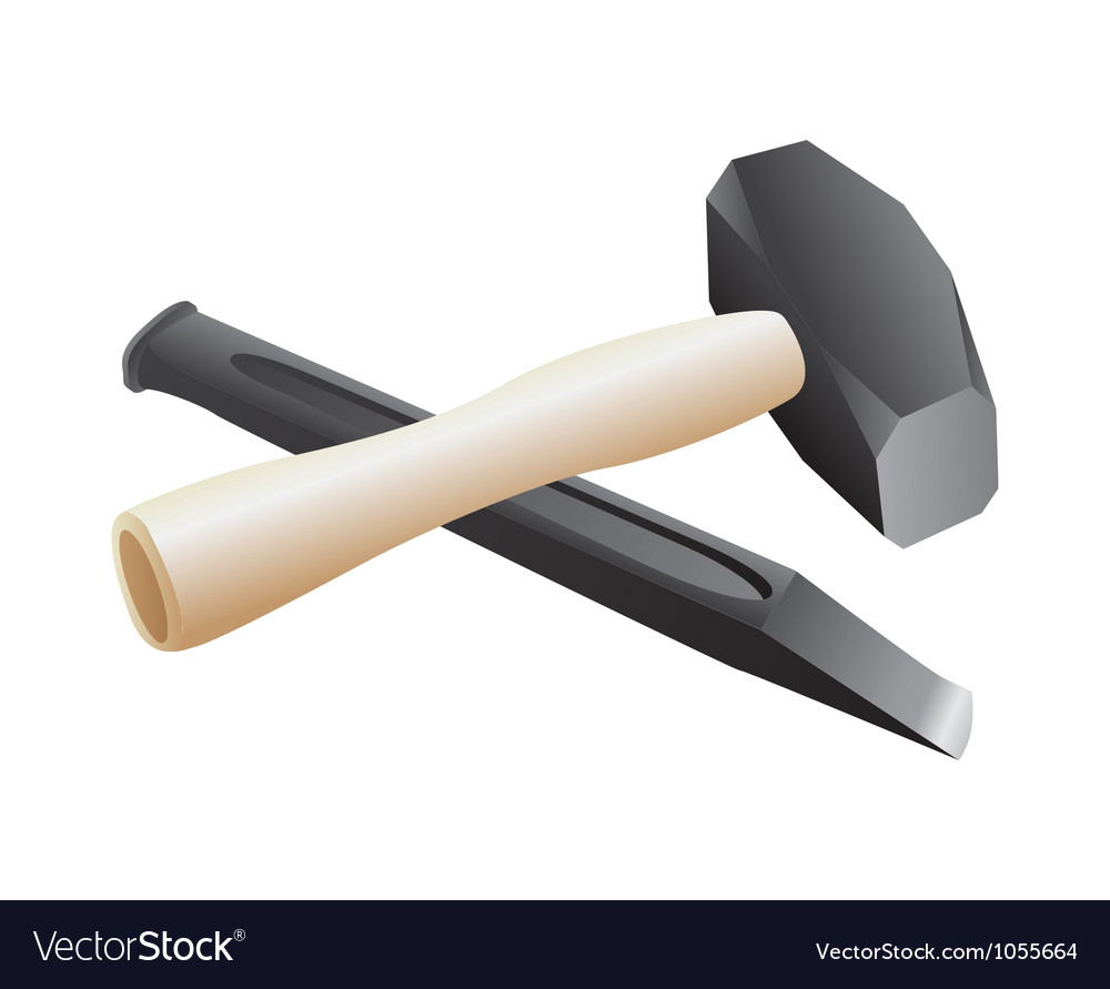 Chisel and hammer vector | Price: 1 Credit (USD $1)