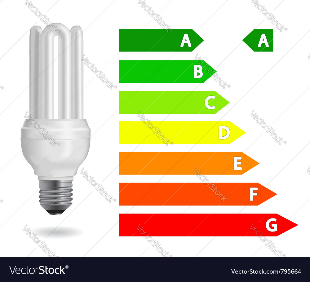 Energy efficiency light bulb vector | Price: 1 Credit (USD $1)