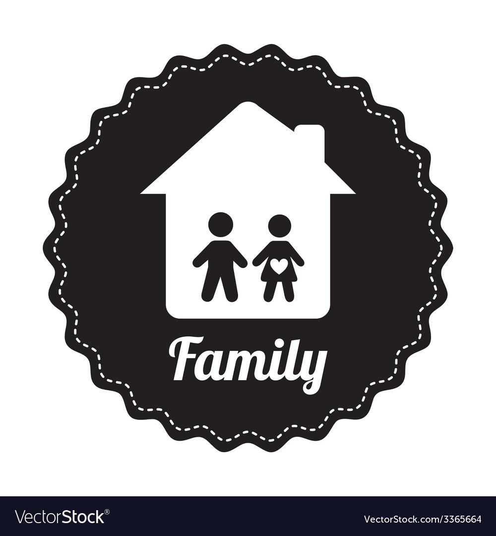 Famly home design vector | Price: 1 Credit (USD $1)