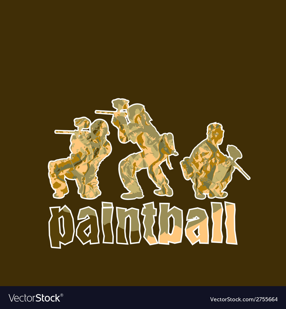 Paintball players vector | Price: 1 Credit (USD $1)