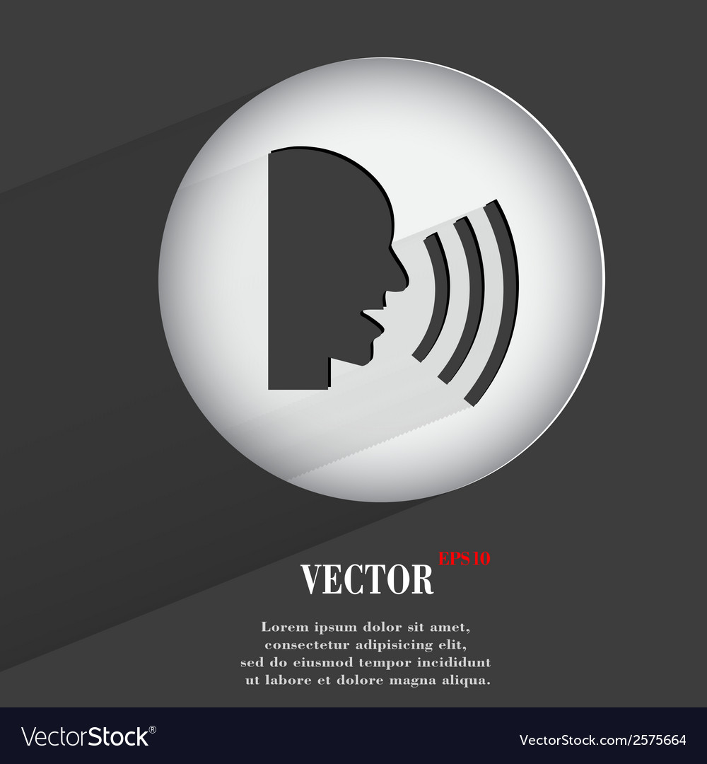 Talk flat modern web button with long shadow and vector   Price: 1 Credit (USD $1)