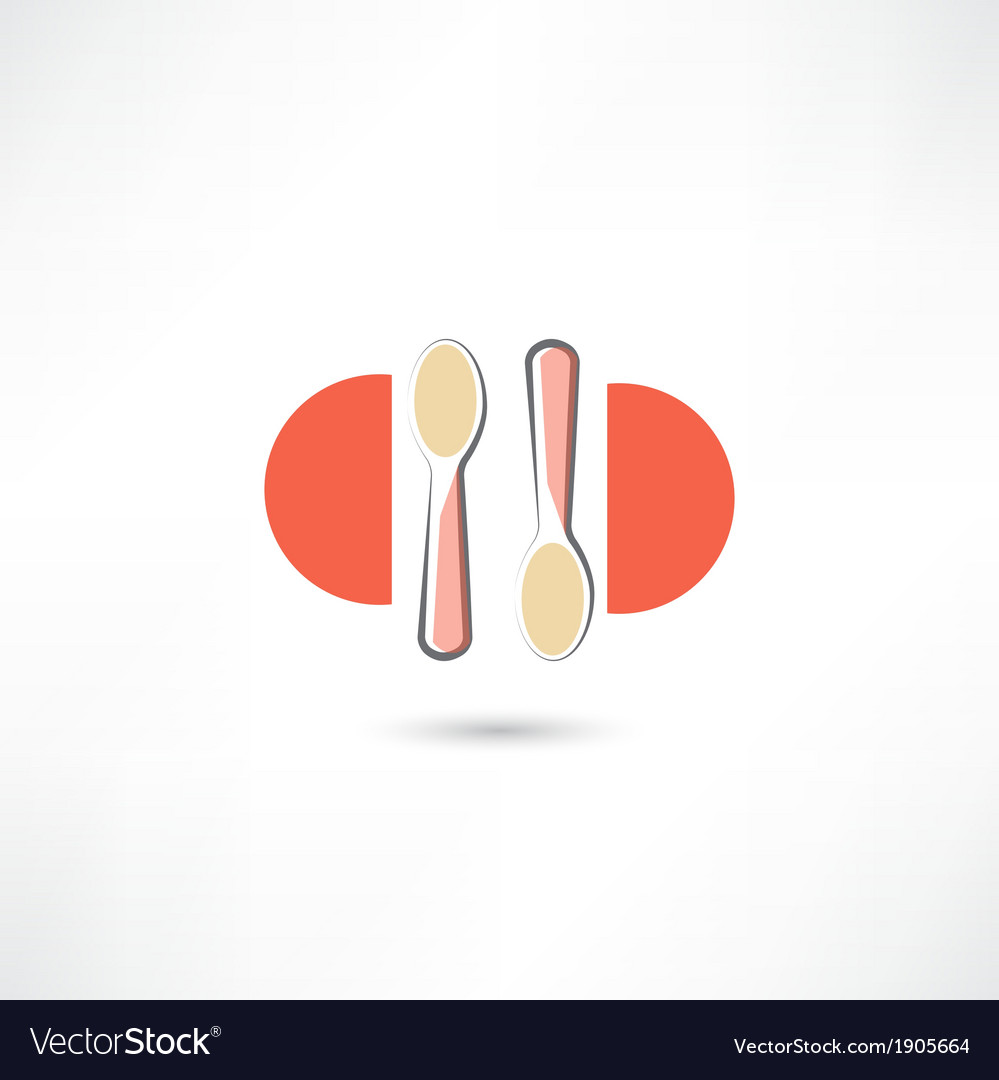 Two spoons vector   Price: 1 Credit (USD $1)
